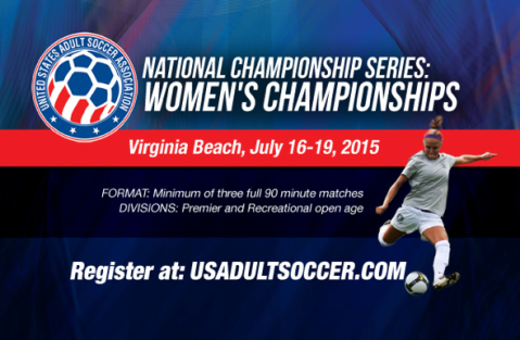 2015 USASA Women's National Championship Series poster